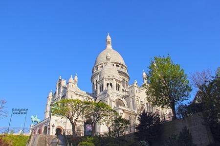 coeur: Basilica Sacre Coeur at Montmartre in Paris, France