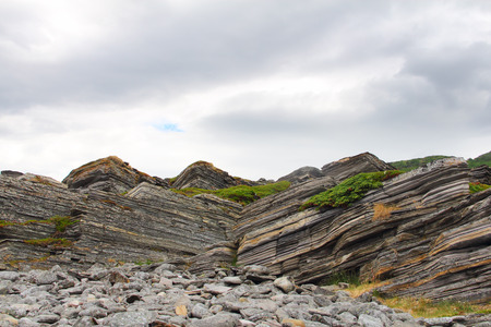 rock layers: Geological rock layers of norwegian mounatins