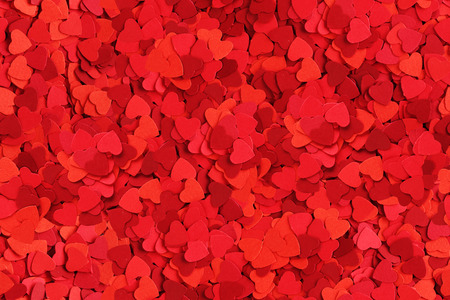 Seamless background made od small paper hearts, Valentines day concept photo