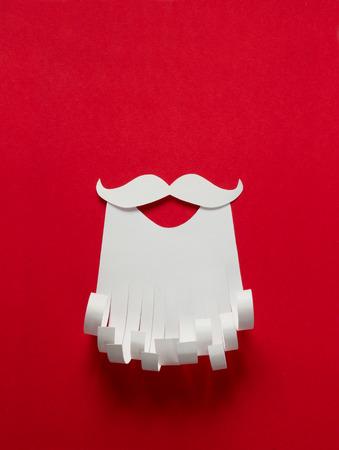 papa noel: Navidad Papá Noel fondo de papel conceptual con espacio de copia Foto de archivo