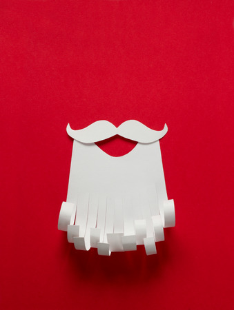 claus: Santa Claus Christmas conceptual paper background with copy space Stock Photo