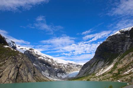 jostedalsbreen: View at Nigardsbreen Glacier in Jostedalsbreen National Park, Norway