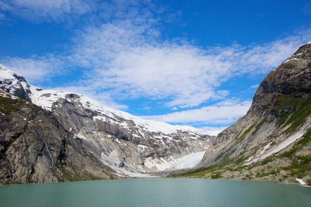 jostedalsbreen: View at Nigardsbreen Glacier in Jostedalsbreen National Park, Norway