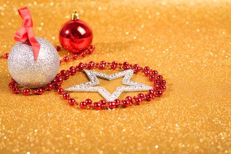 satanic: Satanic christmas card with pentagram and decor on glitter background