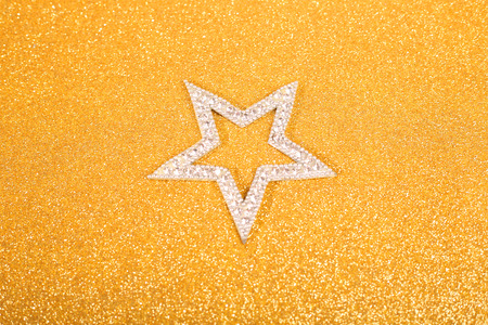 satanic: Satanic christmas card with pentagram on glitter background