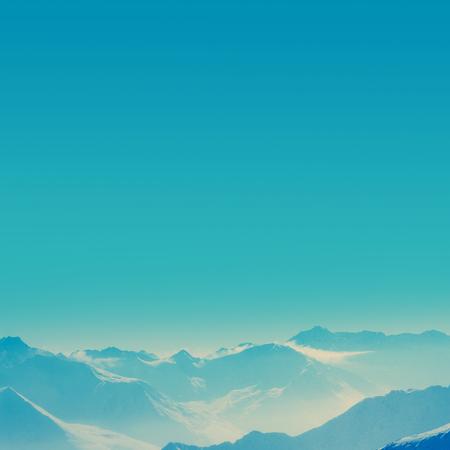 mountain top: Peaks of the mountain range in winter, Alps, Austria