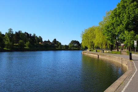 embankment: View of embankment in Sodertalje (S?dert?lje), Sweden Stock Photo