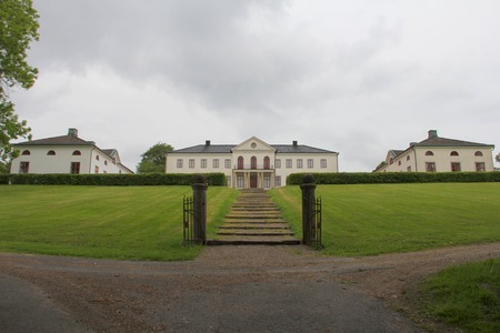 nas: Front view on main building in Naas, Sweden
