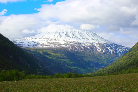 Mountain Gaustatoppen near Rjukan, Norway, summer landscape