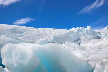 polar environment: Winter ice landscape of glacier Nigardsbreen, Norway