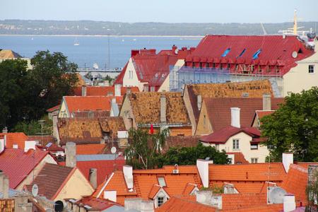 tallin: Beautiful houses in old town of Tallinn, Estonia