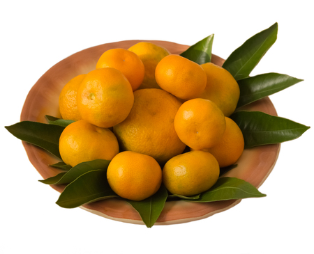 tangerines: Tangerines on a plate Stock Photo