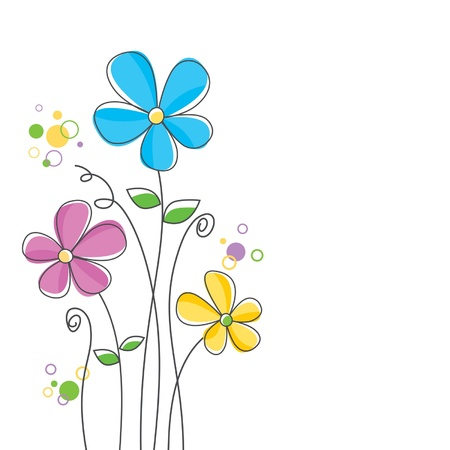 flower line: Flower background