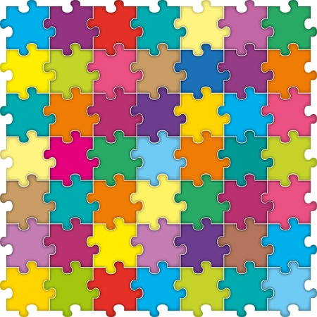 Abstract puzzle background Vectores