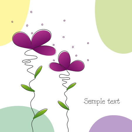 Bright beautiful flower card background Vector