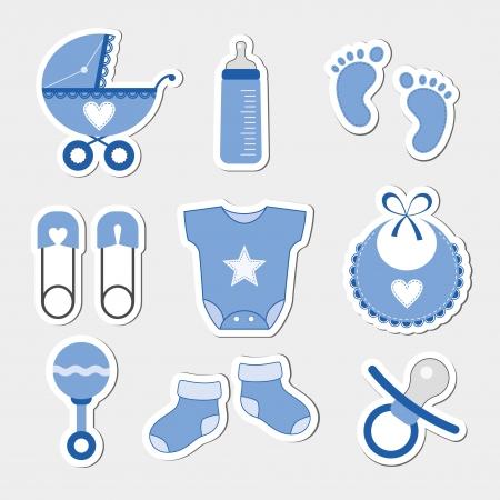 boy: Baby boy design icons
