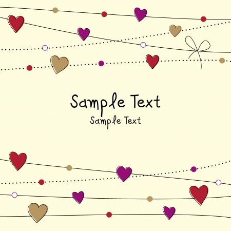 Lovely Valentine dag achtergrond Stock Illustratie