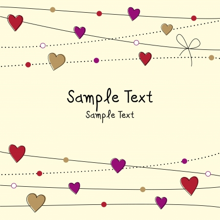 Lovely Valentine day background Vector