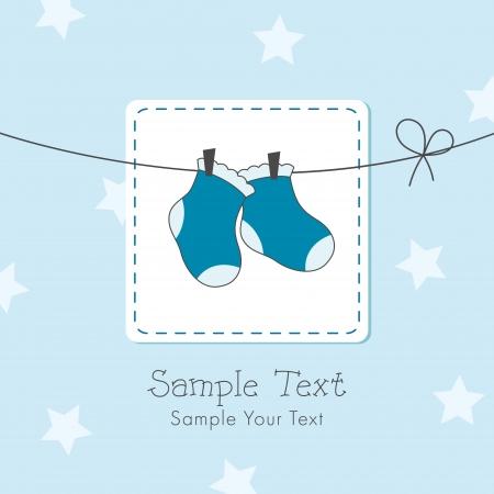 Baby boy shower invitation card Vector