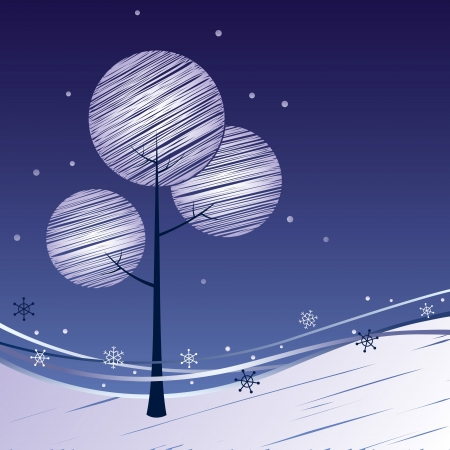 Winter background New Year Vector
