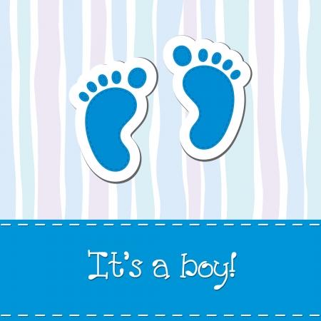赤ちゃん男の子到着カード シャワー招待