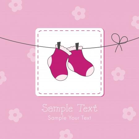 赤ちゃんの少女シャワーの招待カード