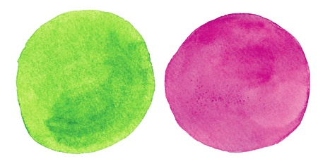 Watercolor hand painted circles photo