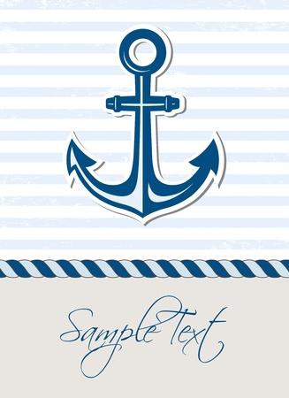 at anchor: Mar de fondo con el ancla