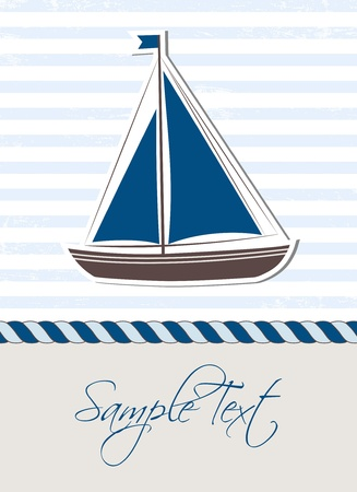 Sea background with boat Vector