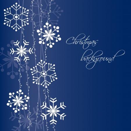 snow crystal: Christmas snowflakes background
