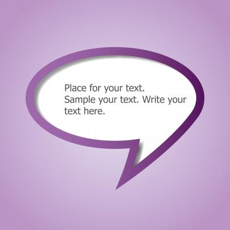 Web design speech bubble Vector