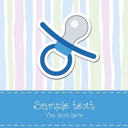 Baby shower invitation card Vektorgrafik