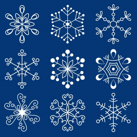 Christmas snowflakes Stock Vector - 16196738