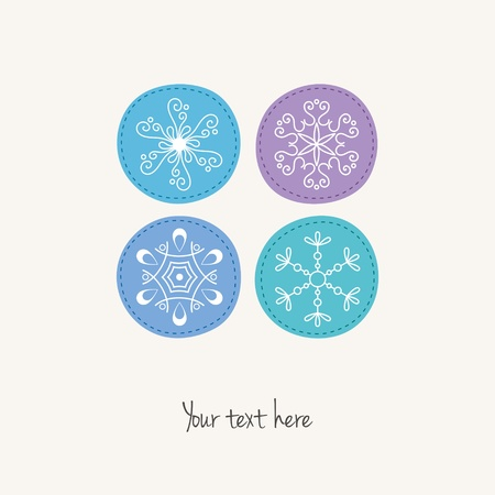 Christmas snowflakes card Vector