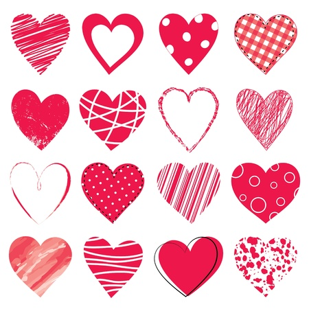 バレンタインの日の落書きの心