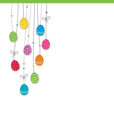 pascuas navide�as: Brillante tarjeta de Pascua