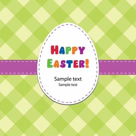 Bright Easter card Vector