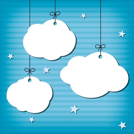 Cloud Background Stock Vector - 17379288