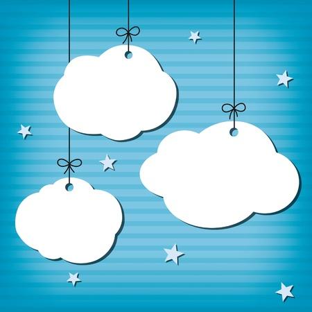 clouds cartoon: Nube de fondo Vectores