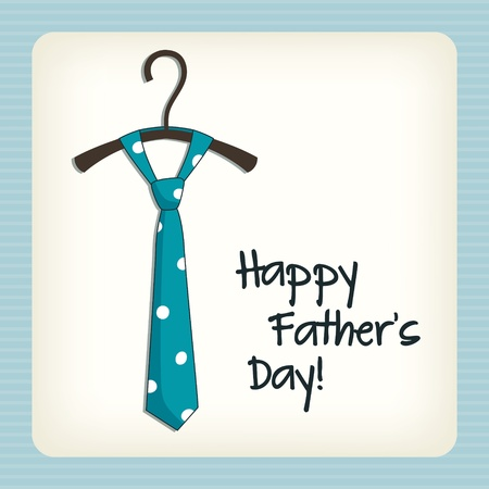 father: Father day greeting card Illustration