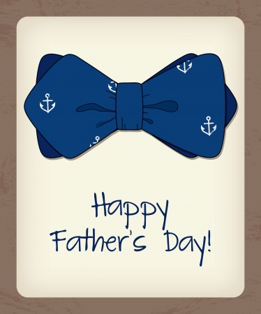 blue tie: Father day greeting card with bow tie Illustration