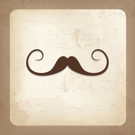 Carte de cru avec la moustache, fête des pères