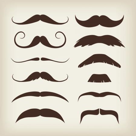 gentleman: Vector Mustaches Set Illustration