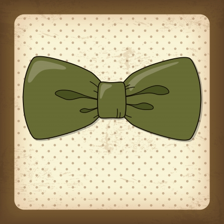 Vintage Card with Bow-Tie, Happy Fathers day Vector