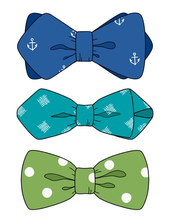bow knot: Bow tie set Illustration