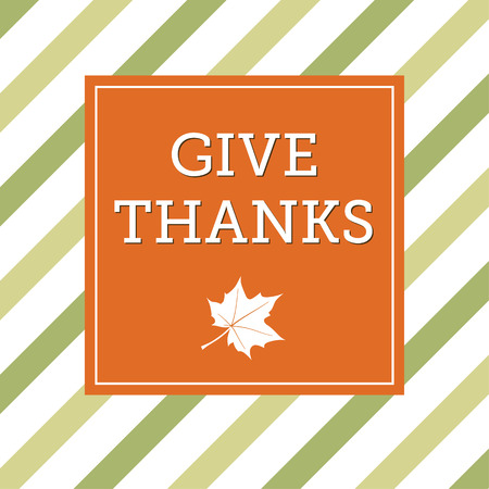 Thanksgiving card with maple leaf Vector