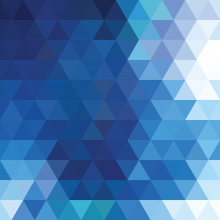 Abstract blue triangle background Vectores