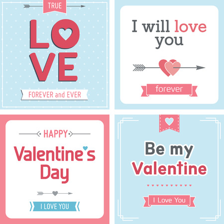 Retro Valentine s day card with heart, ribbon and decoration Vector