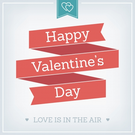 valentine s card: Valentine s Day Card, Typographical Background