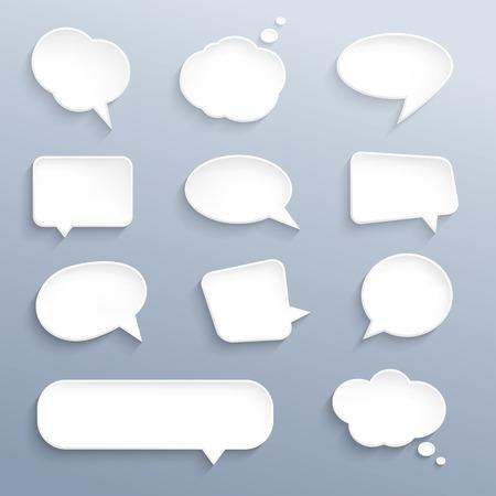 Paper speech bubble Vectores